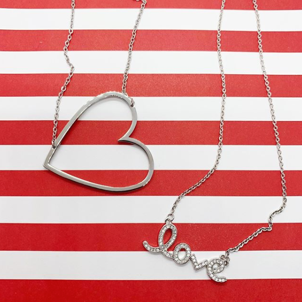 Sideways Open  Heart Necklace