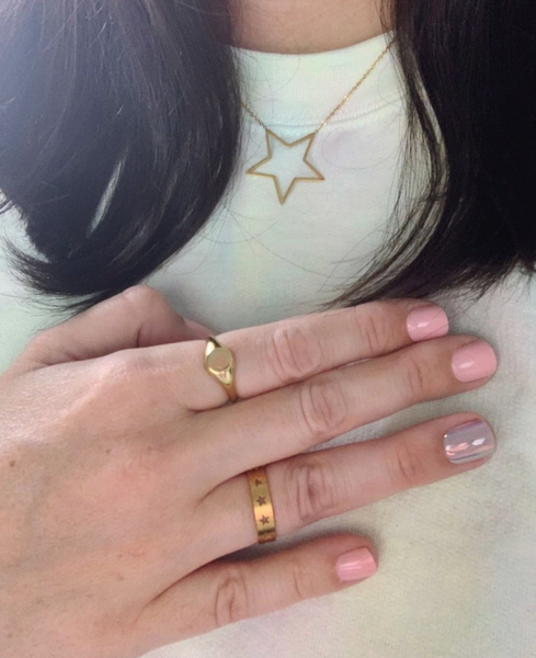 Stainless Steel Star Struck Ring