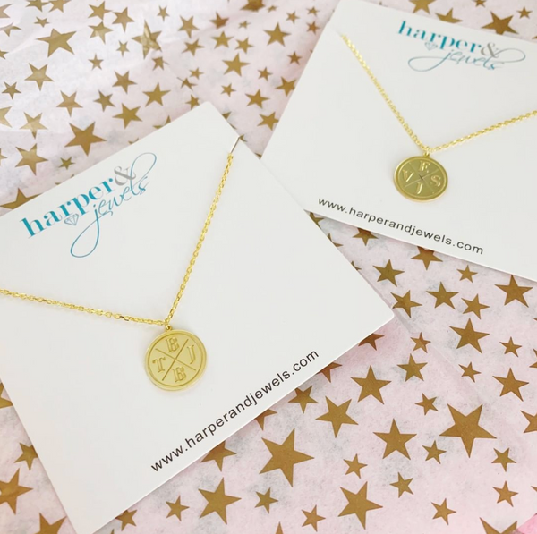 Small Personalized Coin Disc Necklace