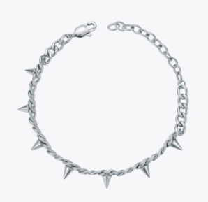 Chain Link Bracelet with Spikes