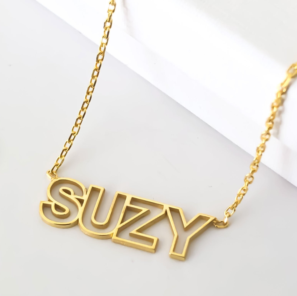 block letter name necklace
