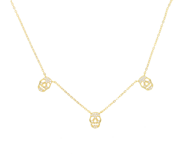 Skull Choker Necklace