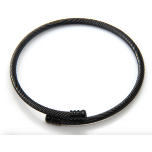 Stainless Steel Cary Wrap Bracelet - Black