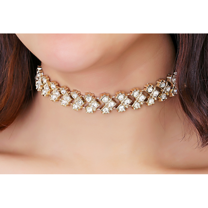 Brianna Crystal Choker Necklace