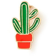 Set of 3 Cactus & Palm Tree Pins
