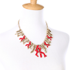 Bryna Coral Statement Necklace