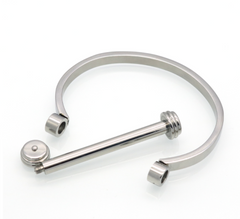 Stainless Steel Barbell Bracelet