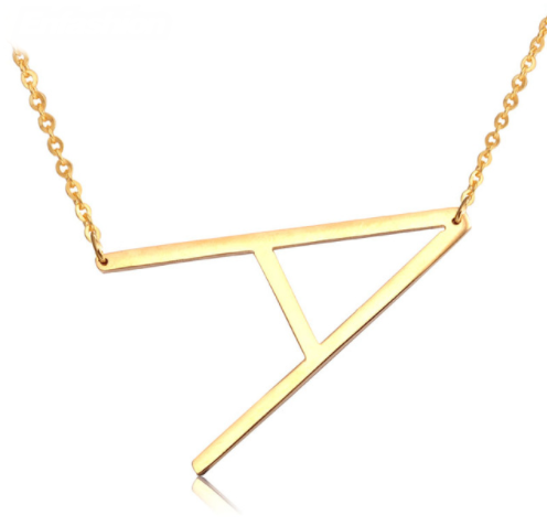 Large Sideways Initial Necklace – Harper & Jewels