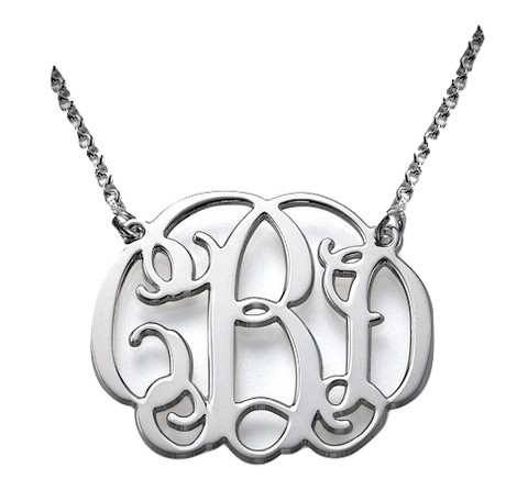 The Round Script Monogram - Silver