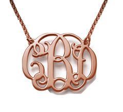 The Round Script Monogram - Rose Gold