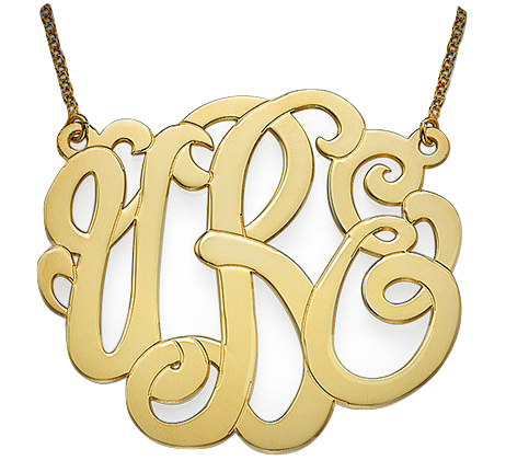 Premium Monogram Necklace - Gold