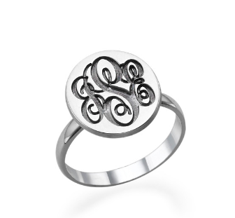 Monogram Disc Ring
