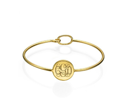 Monogram Bangle - Gold