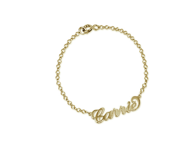 Carrie Name Bracelet/Anklet - Gold