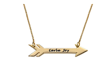 Personalized Arrow Necklace - Gold