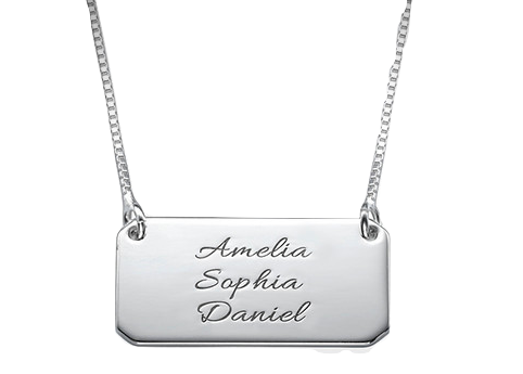 Triple Name Bar Necklace