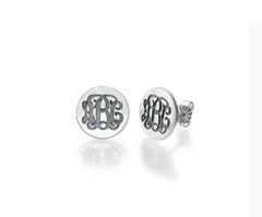 Monogram Disc Earrings