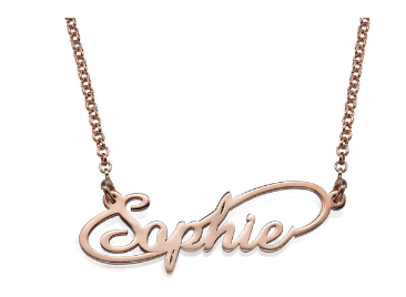 Infinity Name Necklace - Rose Gold