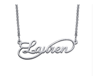 Infinity Name Necklace - Silver