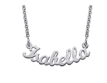 Curved Name Necklace