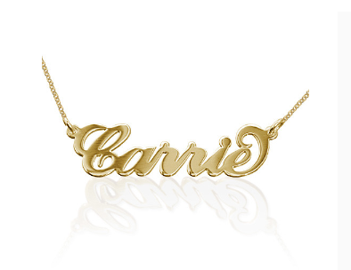 Carrie Name Necklace - Gold