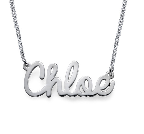 Cursive Name Necklace - Silver