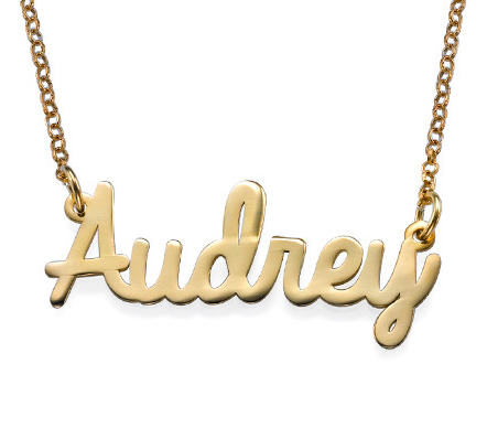 Cursive Name Necklace - Gold