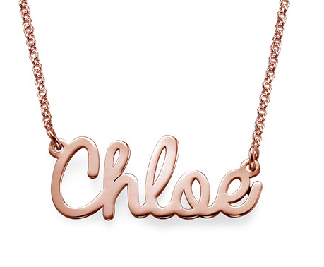 Cursive Name Necklace - Rose Gold