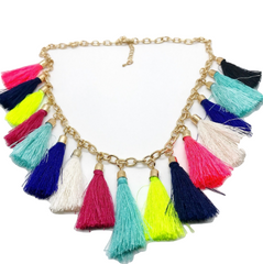 Sutton Summer Tassel Necklace