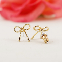 Dainty Bow Knot Stud Earrings