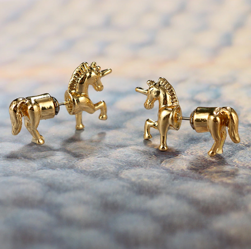Unicorn Double Sided Stud Earrings