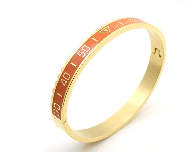 Speedometer Bangle - Orange