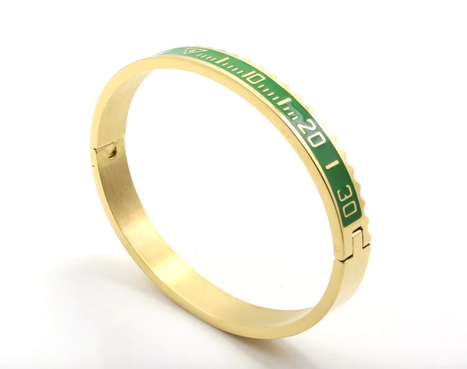 Speedometer Bangle - Green