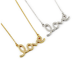 Dainty CZ Love Necklace
