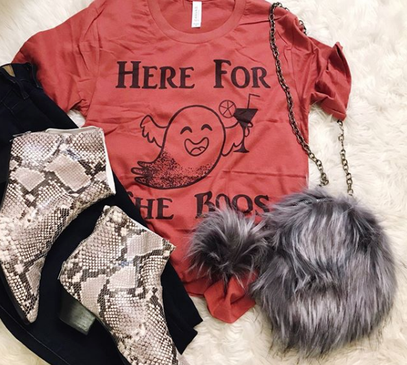 Here For The Boos Halloween Tee