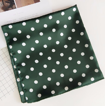 Forest Green Polka Dot Square Scarf