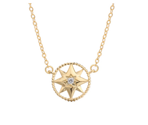 Round Star Pendant Necklace