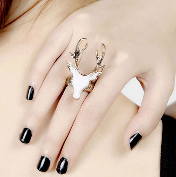Fall Y'all Deer  Statement Ring