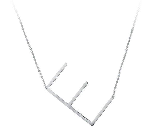 Large Sideways Initial Necklace