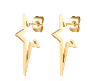 Star Drop Stud Earrings