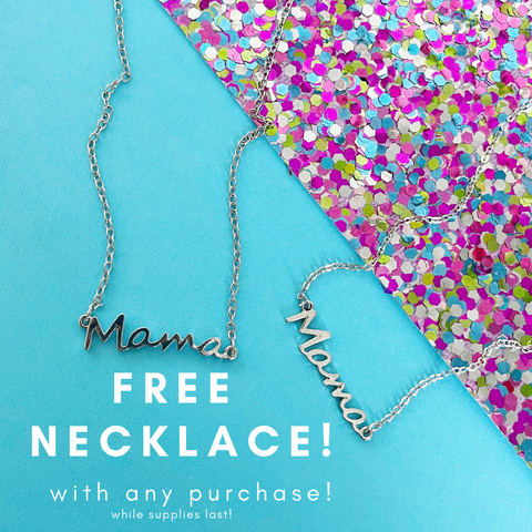 FREE WITH PURCHASE- Mama Pendant Necklace