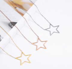 Hollow Star Necklace