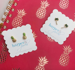 Pineapple Dazzle Stud Earrings
