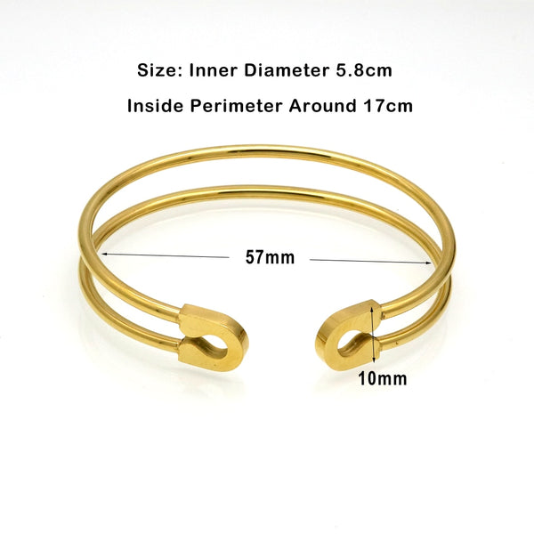 Safety Pin Cuff Bracelet