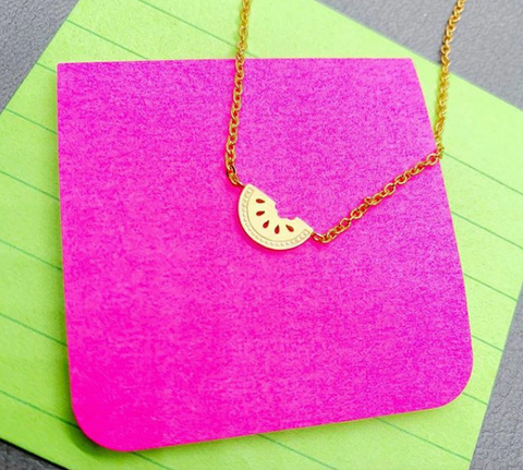 Dainty Watermelon Necklace