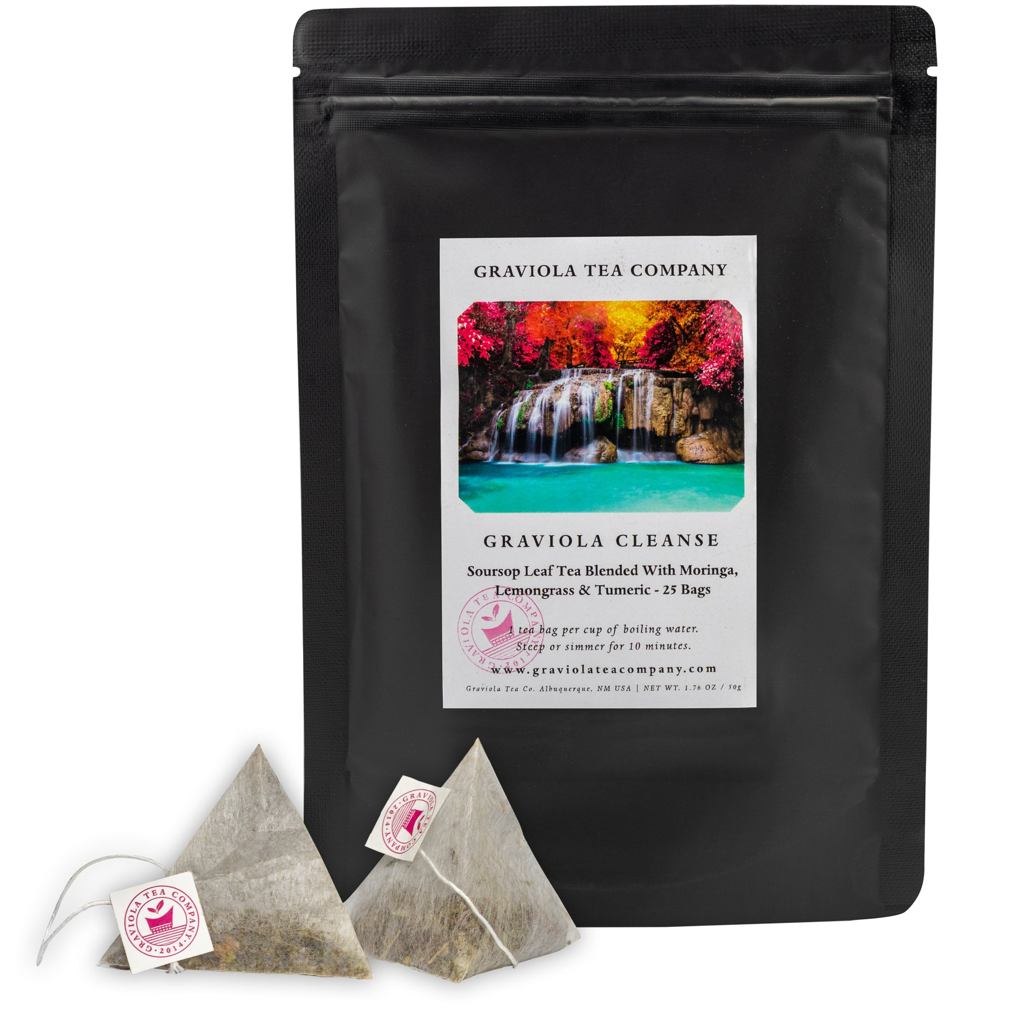 Graviola Cleanse - Soursop Tea Blended With Moringa, Lemongrass & Turmeric