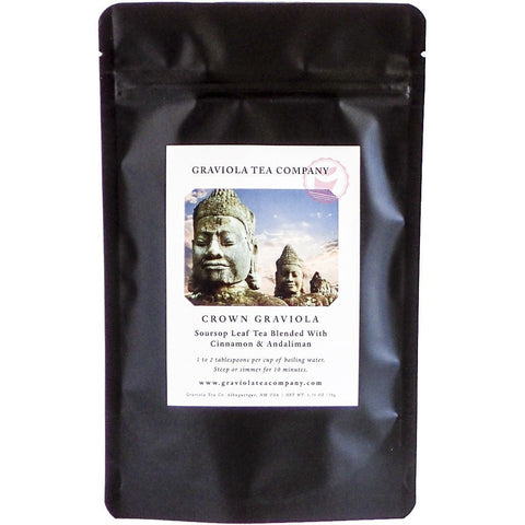 Crown Graviola - Soursop Leaf Tea Blended With Cinnamon & Andaliman - GraviolaTeaCompany - 1