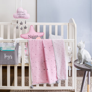 Dream Big Pink Bedding Set
