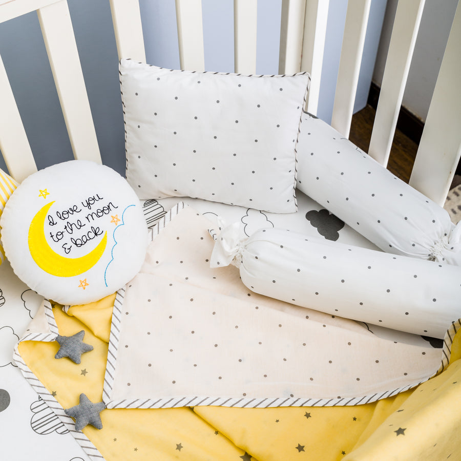 Dream Big Yellow Bedding Set