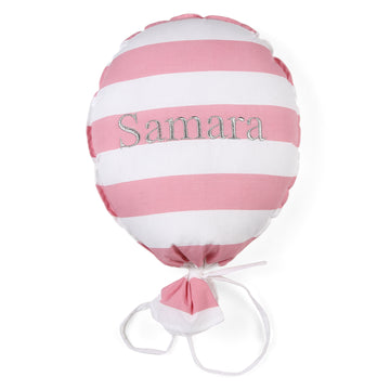 Personalised Balloon Pink Striped